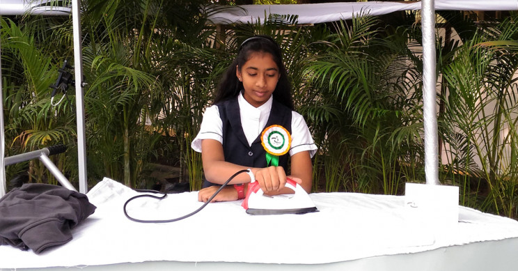 A 14-Year-Old Indian Girl Invents A Solar Iron
